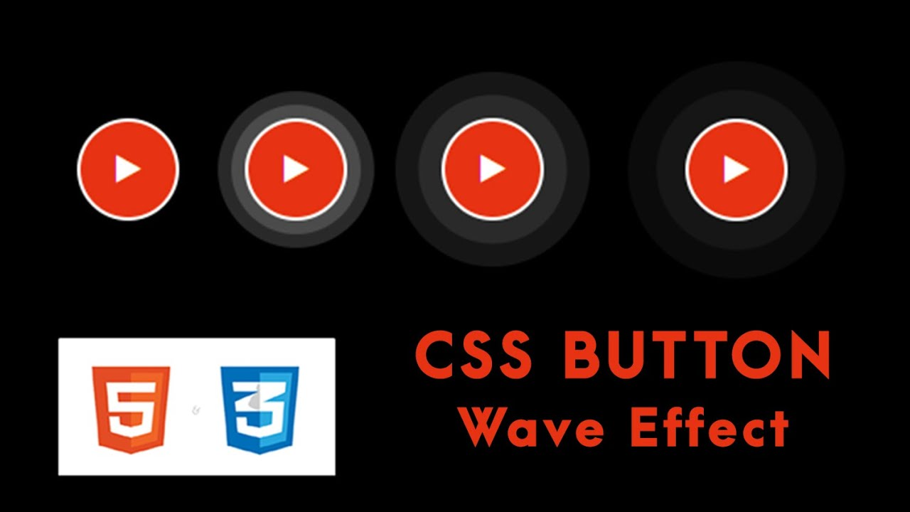 Realistic CSS Ripple Animation effects Tutorial For Beginners | *With Source Code*