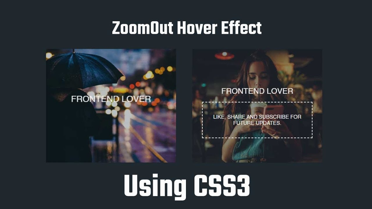 ZoomOut Hover Effect | Animated CSS Effects