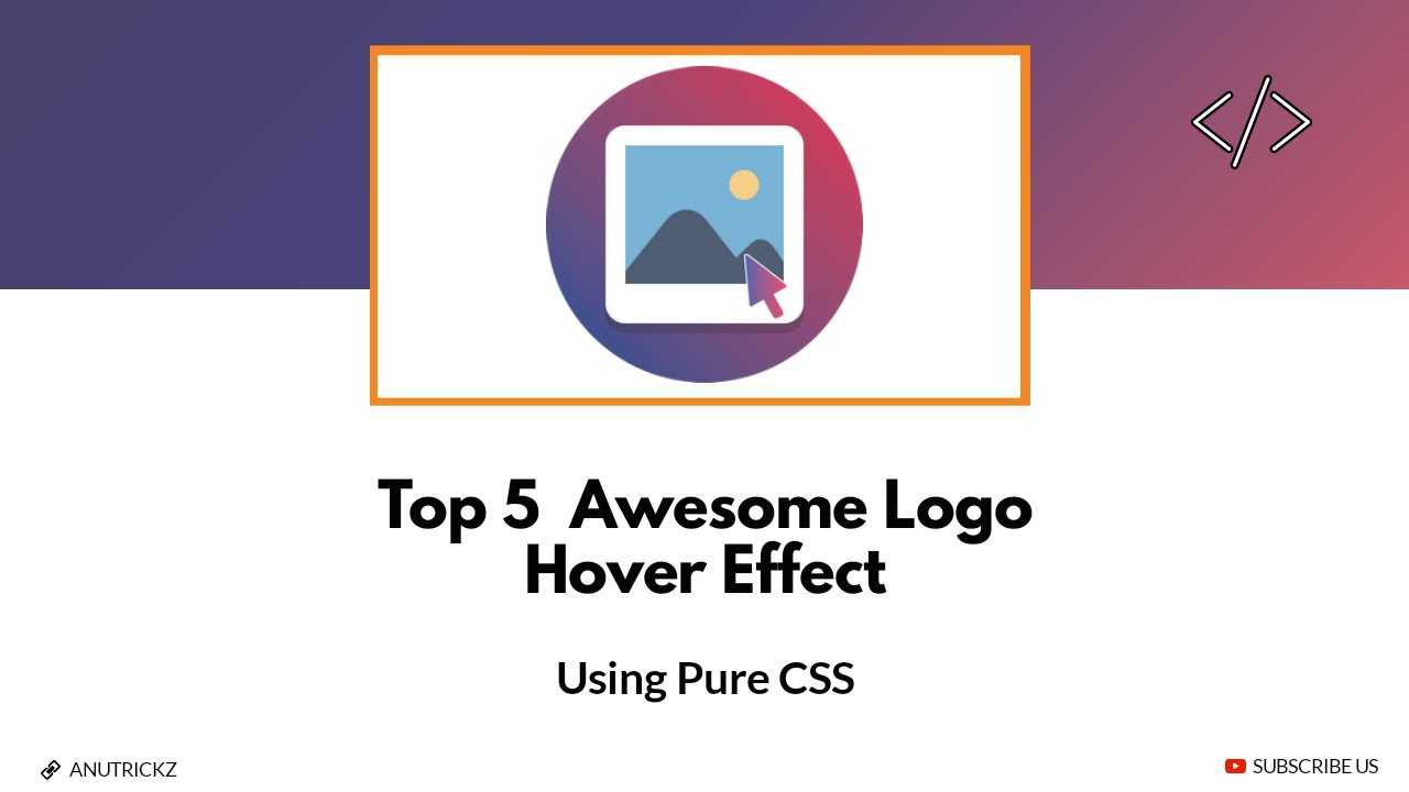 Top 5 Awesome Logo Hover Animation using Pure CSS | Best Free Css Hover Effects