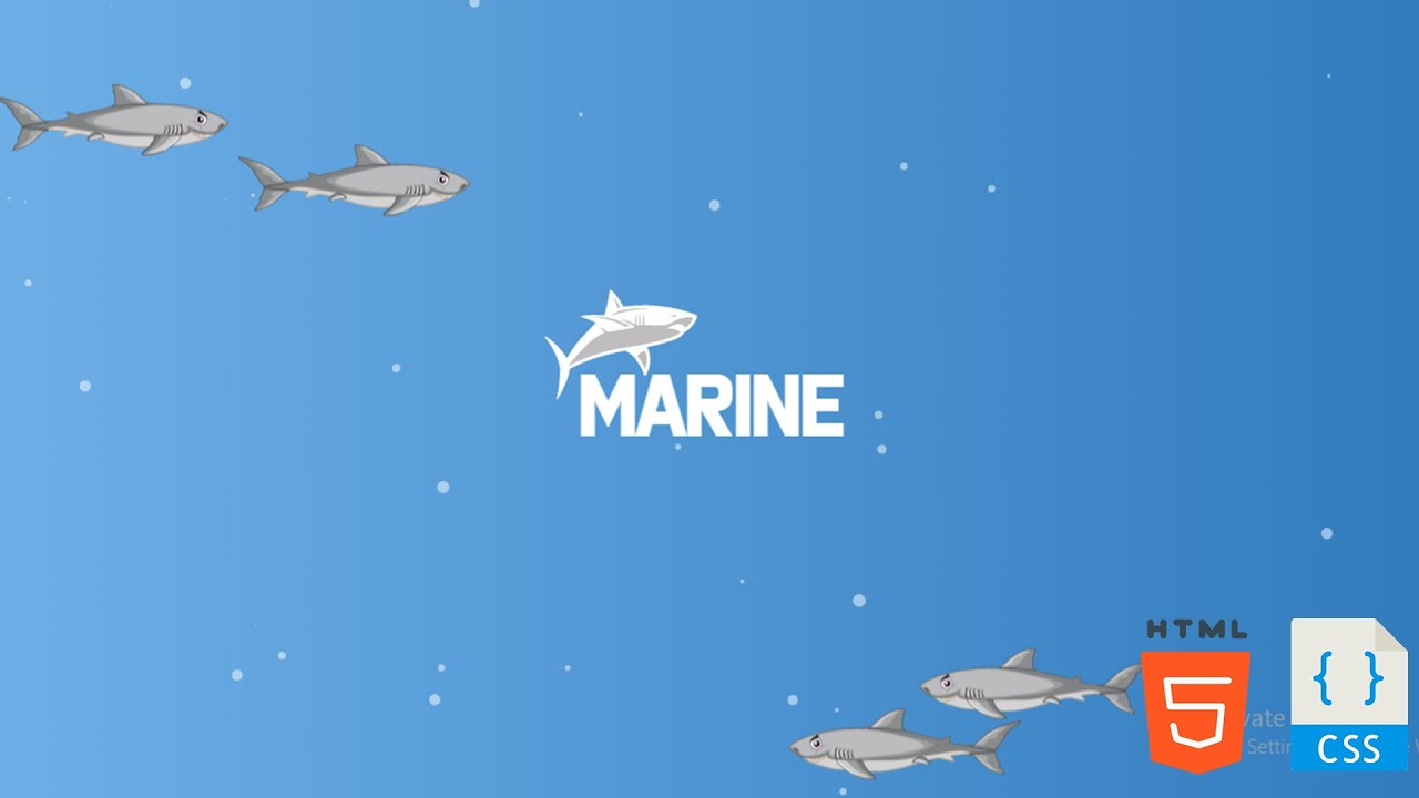Biggest Sharks In Deep Sea Animation Effects With Using HTML, CSS & particle.js