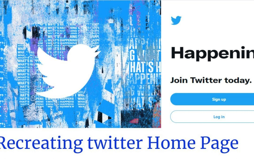Creating Twitter Homepage with HTML & CSS (Grid, Flexbox)