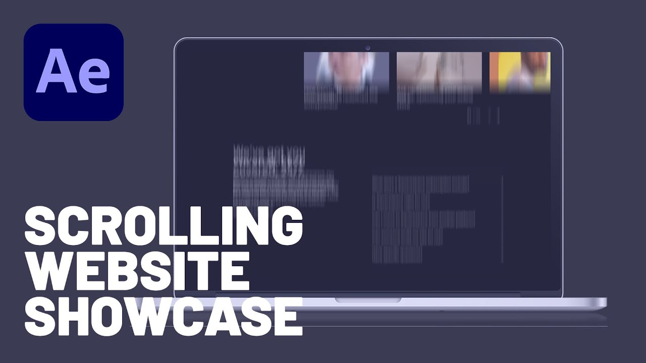 How to Make a Scrolling Website Showcase in Adobe After Effects