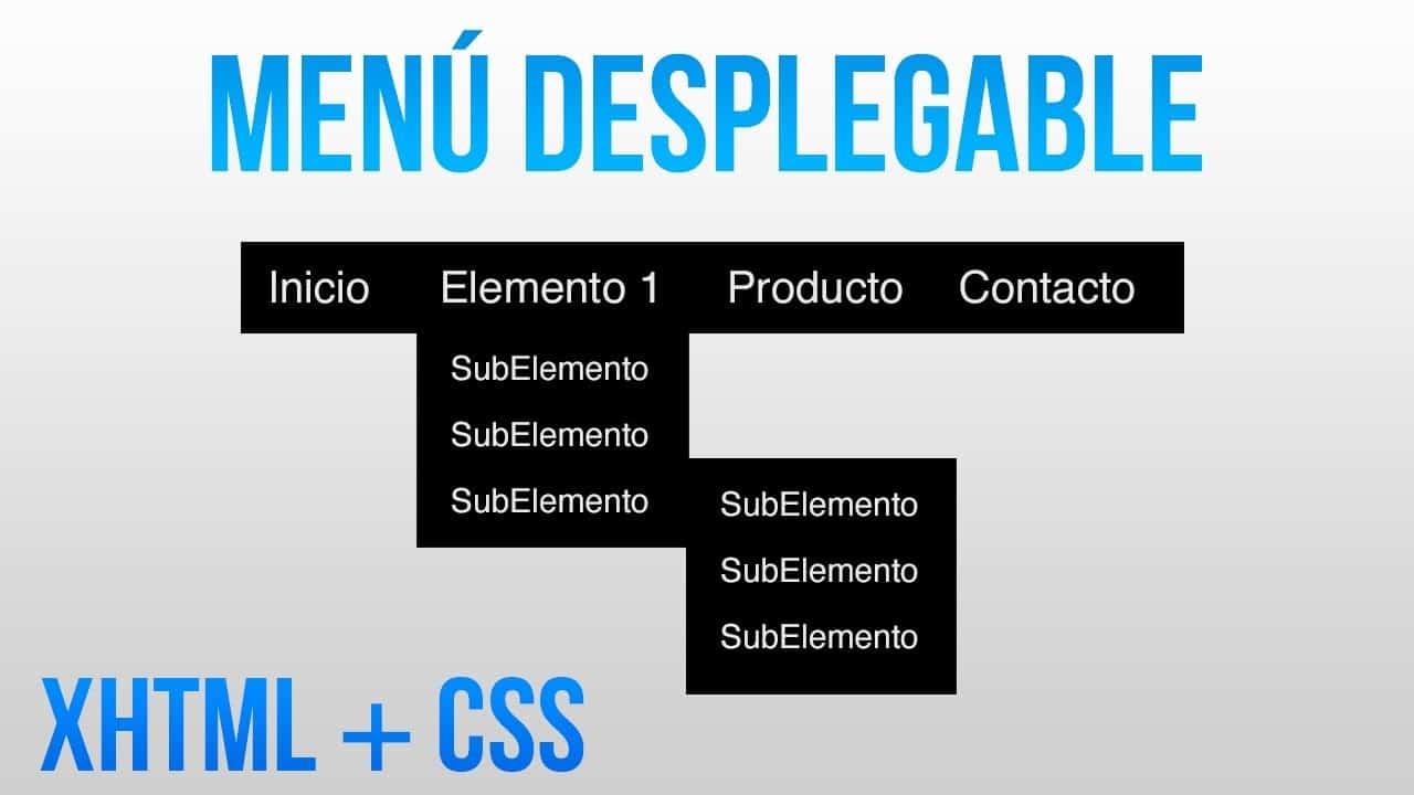 Como hacer un menú desplegable con HTML y CSS
