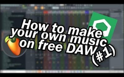 Do It Yourself – Tutorials – How to make your own music on free DAW #1 (french subtitles)