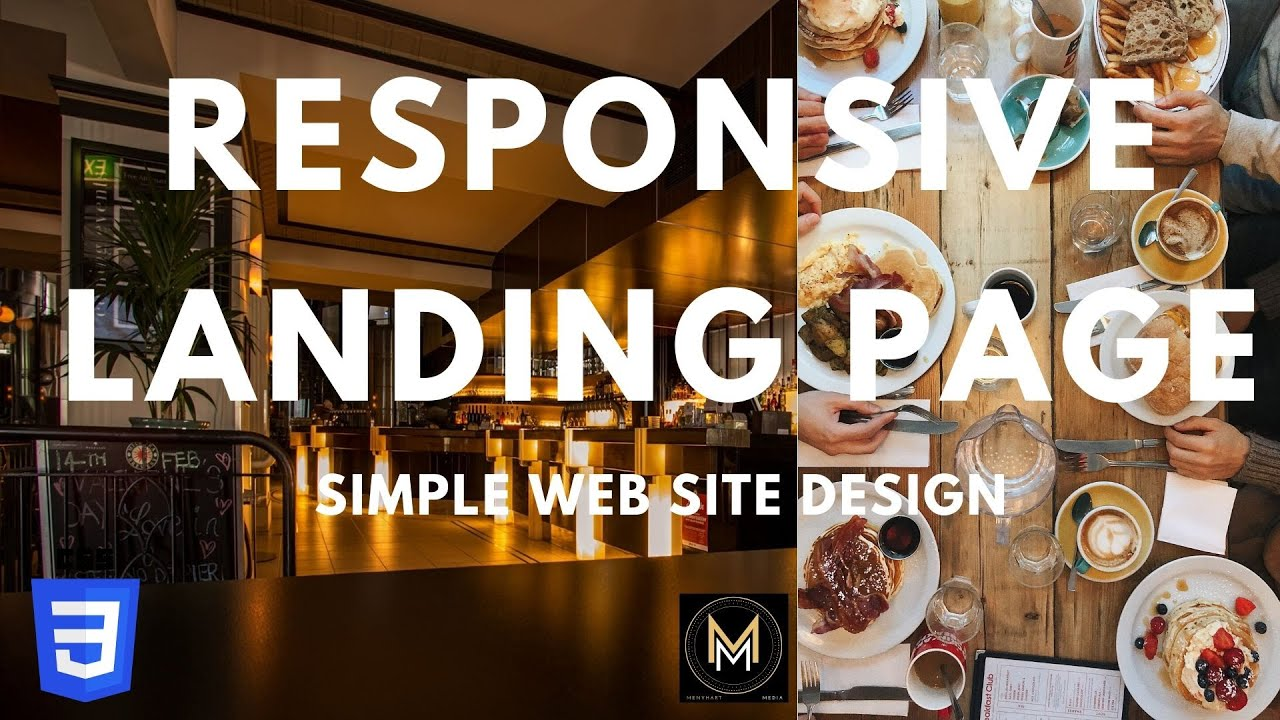 Build a Responsive Website Web Page using HTML & CSS  |  Restaurant Landing Page