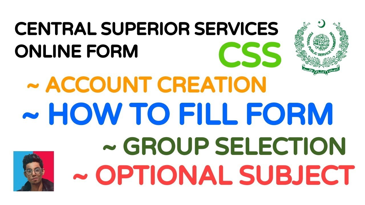 How to fill Online Form | CSS | FPSC | Central Superior Services of Pakistan | Combine Competitive