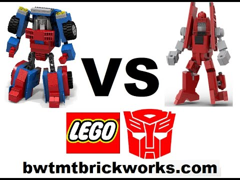 BWTMT Brickworks Lego Transformers Minibot Deathmatch R2M4 GEARS Vs POWERGLIDE