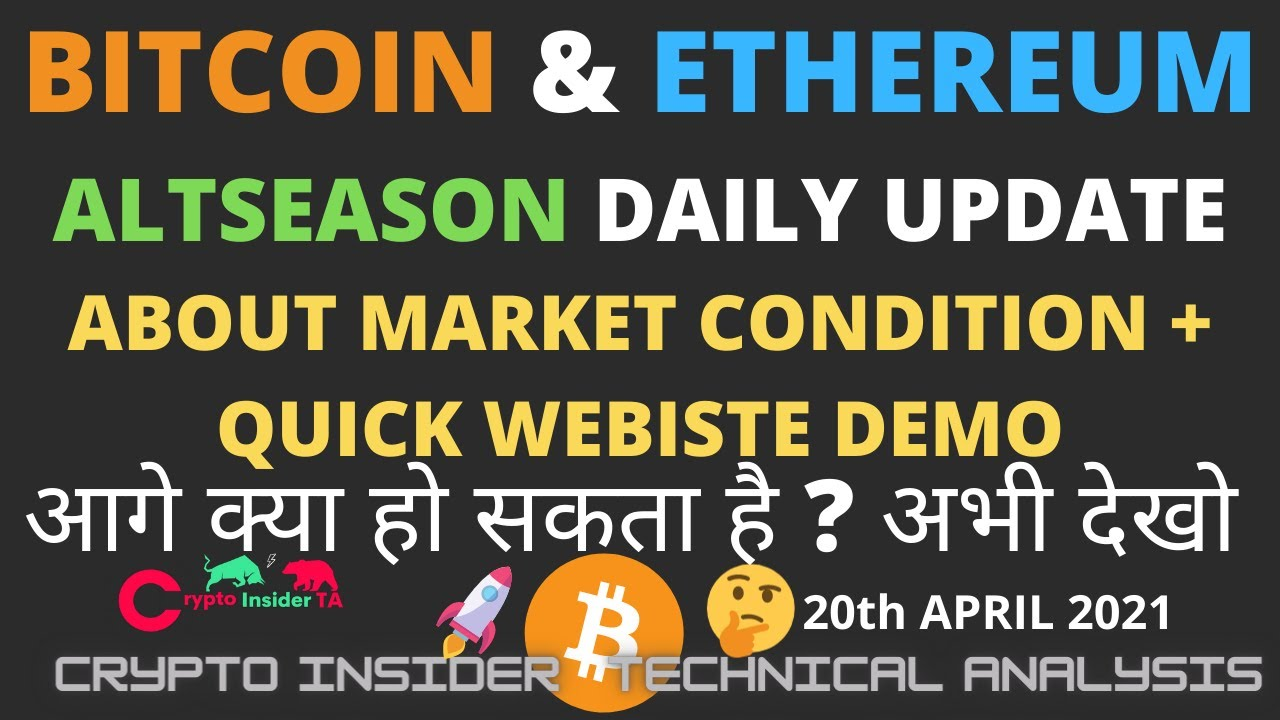 Bitcoin Ethereum CELER Altcoin Daily Update+ Website Quick Demo- CryptoInsiderTA Hindi