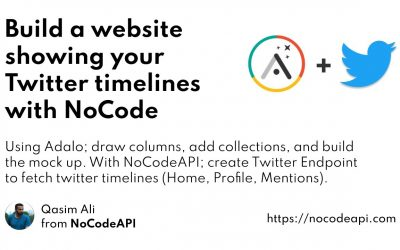 Do It Yourself – Tutorials – Build a website showing your Twitter timelines with NoCode