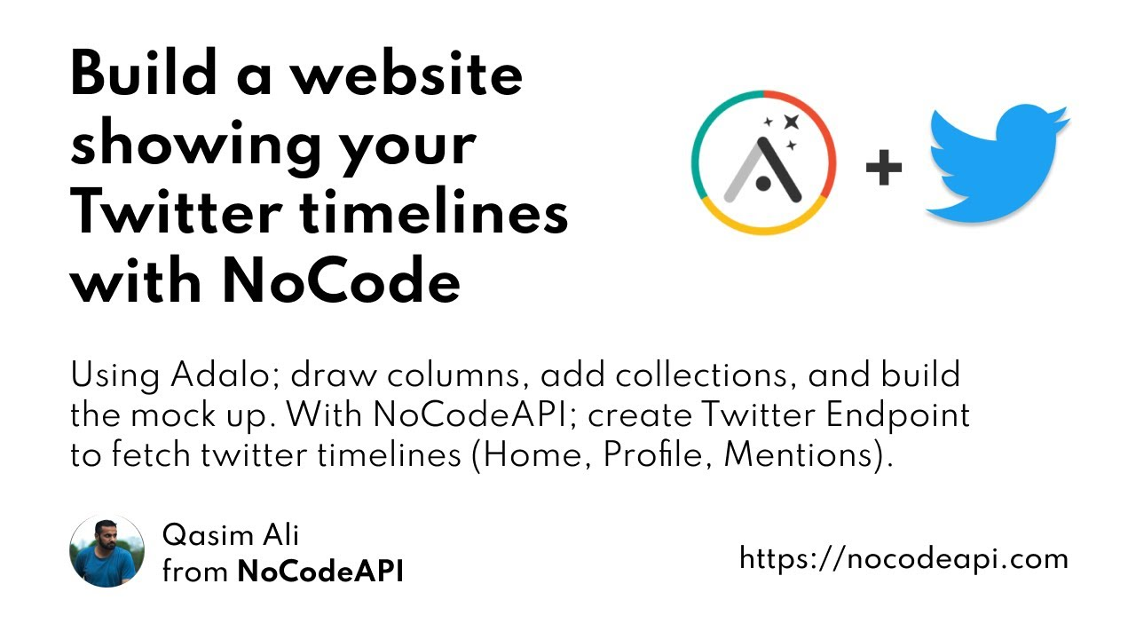 Build a website showing your Twitter timelines with NoCode
