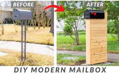 Do It Yourself – Tutorials – DIY Modern Wood Mailbox With Concrete Slab | How to Build (with plans!)