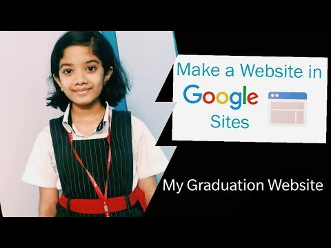 Demo on how to create your own Website / My Grade 3 Graduation WebSite / Tutorial for kids