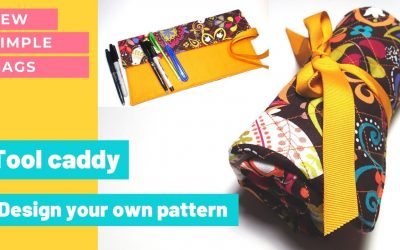 Do It Yourself – Tutorials – Design your own sewing pattern for a tool caddy or brush roll. Pattern design tutorial + sewing.