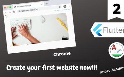 Do It Yourself – Tutorials – Flutter : Make your first website now from scratch !!!   Part 2   flutter coding