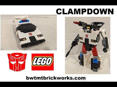 G1 Clampdown a Lego Transformer by BWTMT Brickworks