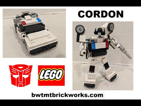 G1 Cordon a Lego Transformer by BWTMT Brickworks