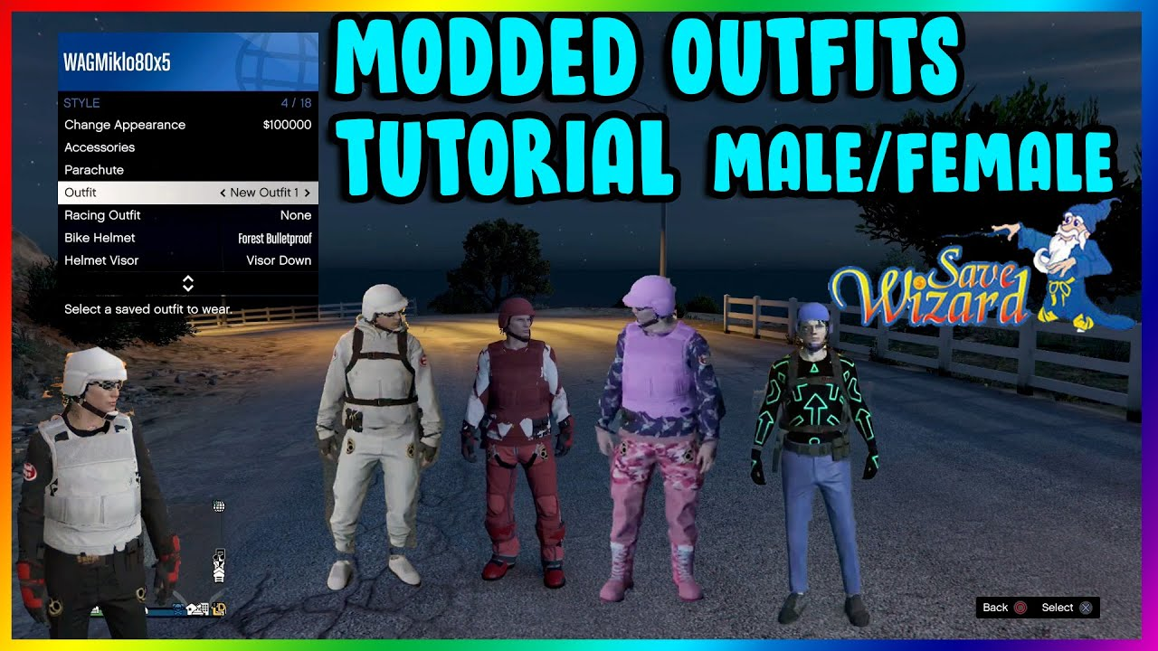 GTA 5 How to Make Your Own Modded Outfits (Save Wizard Step by Step Tutorial) Male/Female