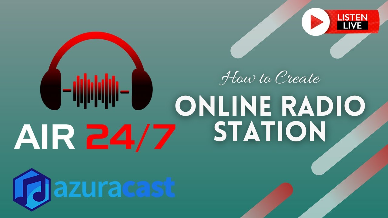 How to Create Online Radio Stations Free with Azuracast Web Radio Broadcasting Software | Part 1