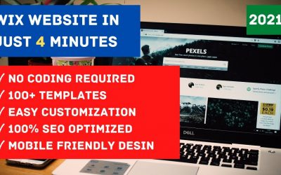 Do It Yourself – Tutorials – How to make WIX WEBSITE in just 4 Minutes for FREE | 2021 | ENGLISH