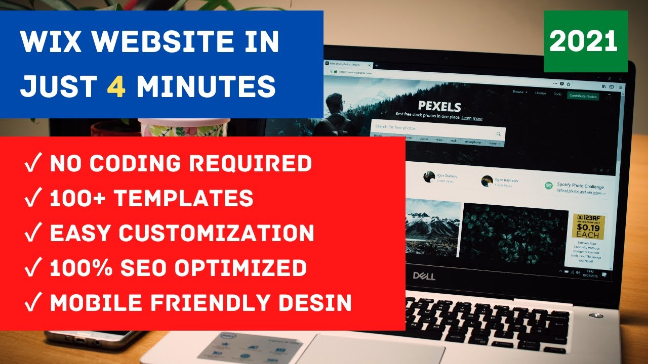How to make WIX WEBSITE in just 4 Minutes for FREE | 2021 | ENGLISH