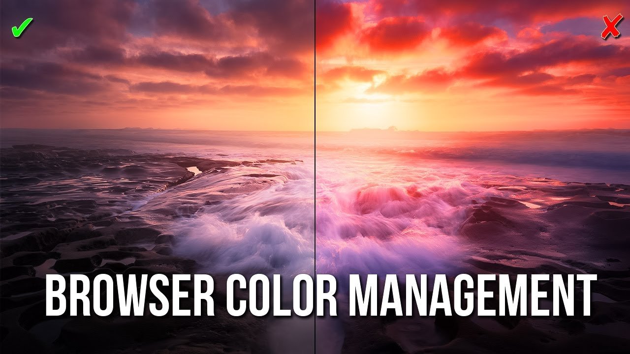 How to setup proper color management in a web browser