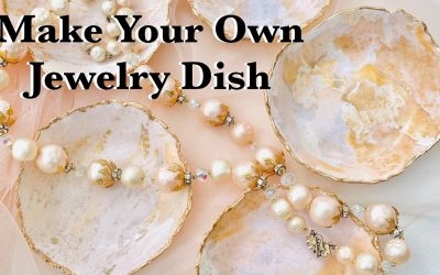 Do It Yourself – Tutorials – Make Your Own Jewelry Dish DIY Polymer Clay Marbled Bowl Tutorial With Gold Leaf Edge
