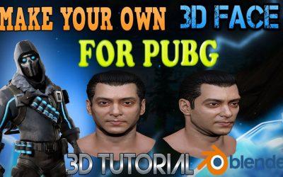 Do It Yourself – Tutorials – PUBG 3D LOGO   MAKE YOUR OWN 3D FACE FOR PUBG CHARACTER   PUBG 3D CHARACTER   PUBG BLENDER TUTORIAL