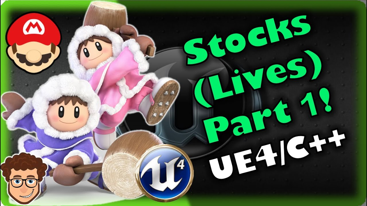 Stocks/Lives (Part 1)! | How To Make YOUR OWN SSB Game | Unreal and C++ Tutorial, Part 19