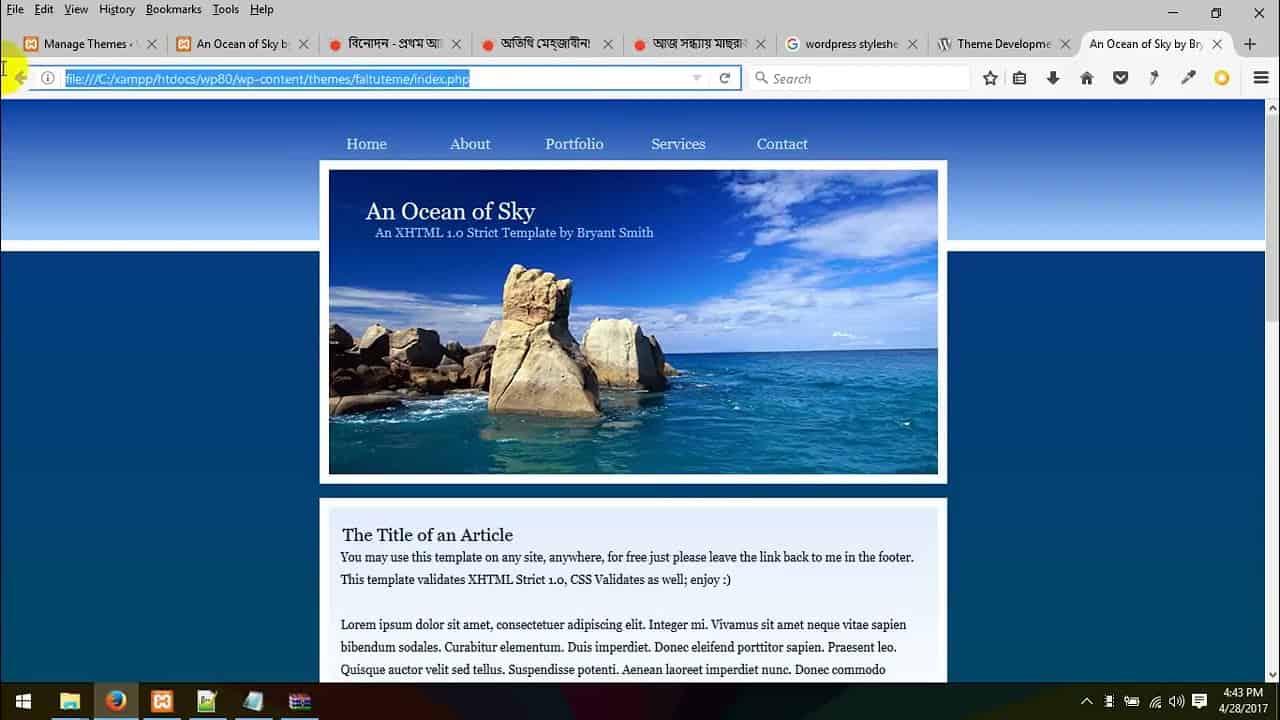 74   WordPress theme development bangla tutorial part 74