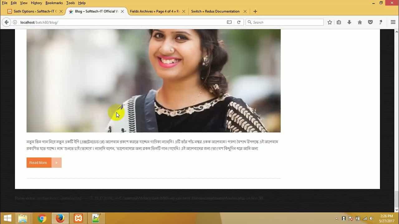 91   WordPress theme development bangla tutorial part 91