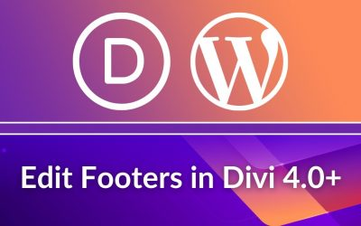 WordPress For Beginners – Divi Theme Tutorial: Divi Footer Customization & Editing