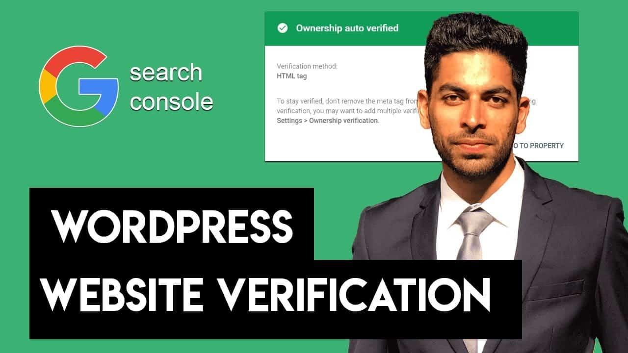 Google Search Console WordPress Site Verification