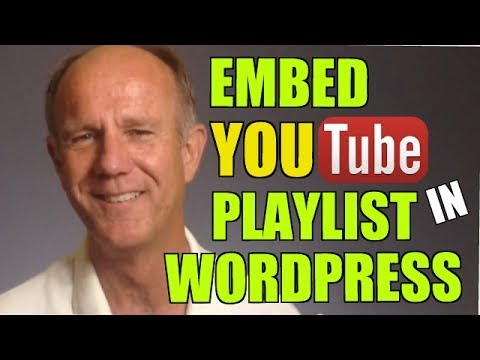 How to Embed A YouTube Playlist In WordPress - Tutorial #drostvideo #isitebuild #hermandrost