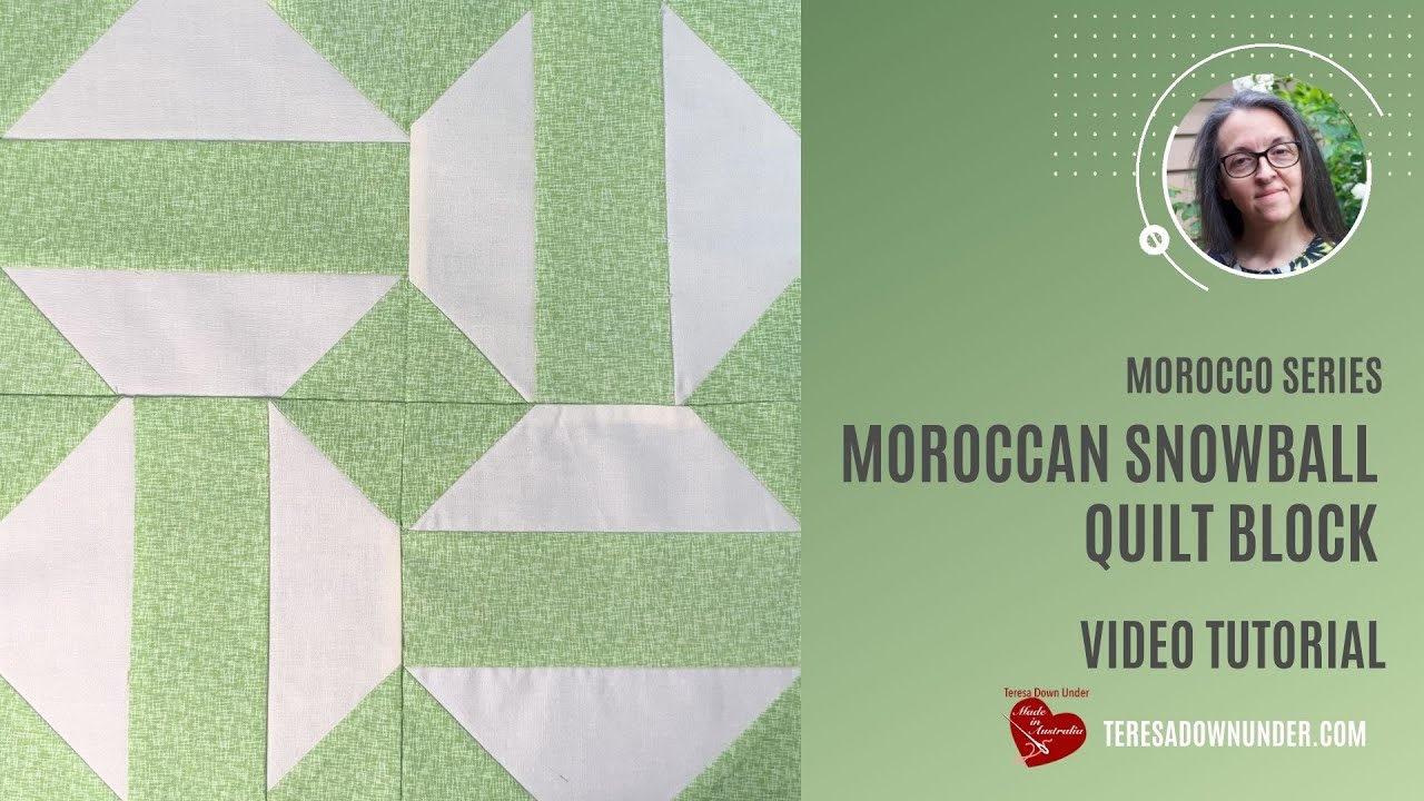 Moroccan style snowball block - Morocco series - video tutorial