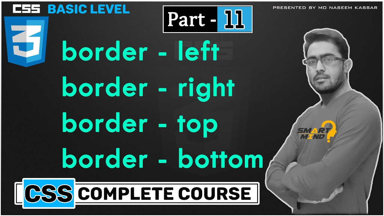 11. Border let right bottom top etc in css in hindi language for beginners by smart mind must watch