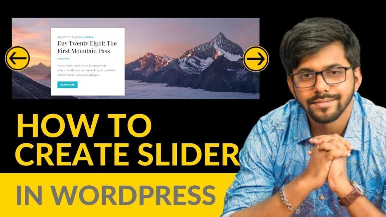 How to Create a Slider in Wordpress Website | Bangla tutorial
