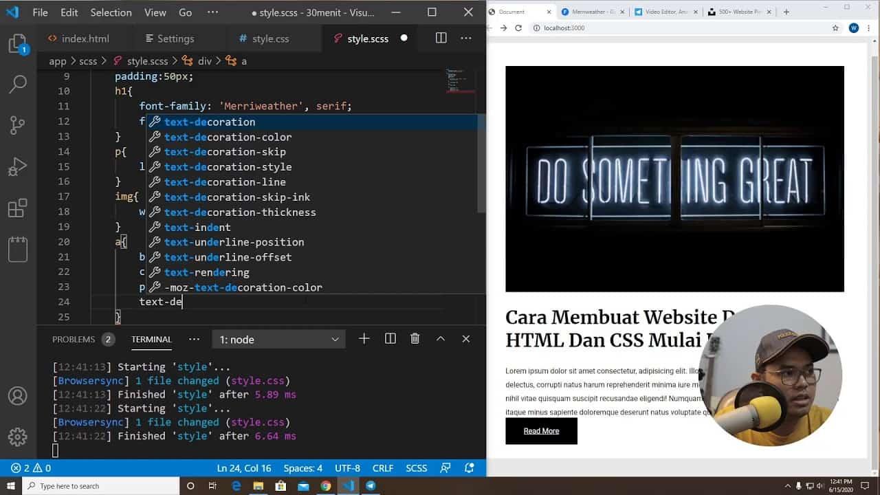 Belajar HTML & CSS 30 Menit Jadi Apa Ya?