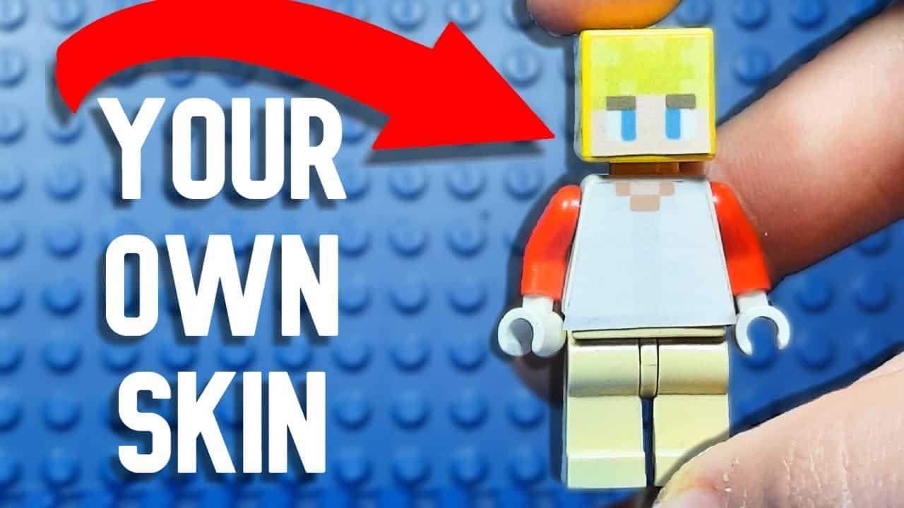 How to make a CUSTOM Lego Minecraft MINIFIGURE