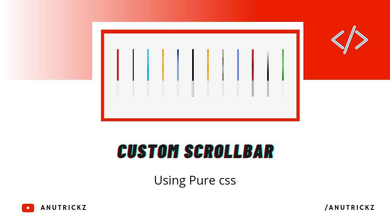 How to Install Custom Scrollbar Using Pure CSS | How to hide scrollbar | CSS Custom Scrollbar