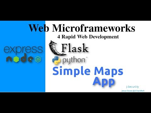 Web Microframeworks - Simple Maps  App with Flask & Materialize.css