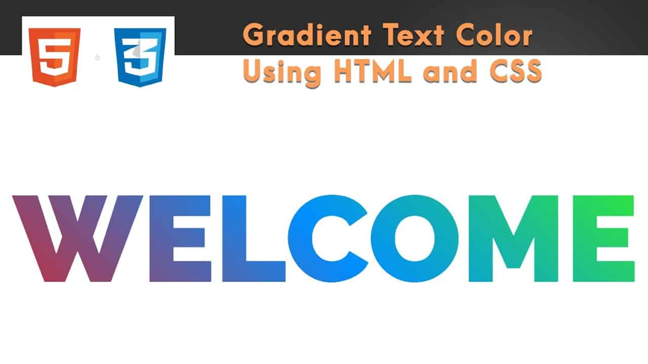 How to Create Gradient Text Using CSS   With Source Code