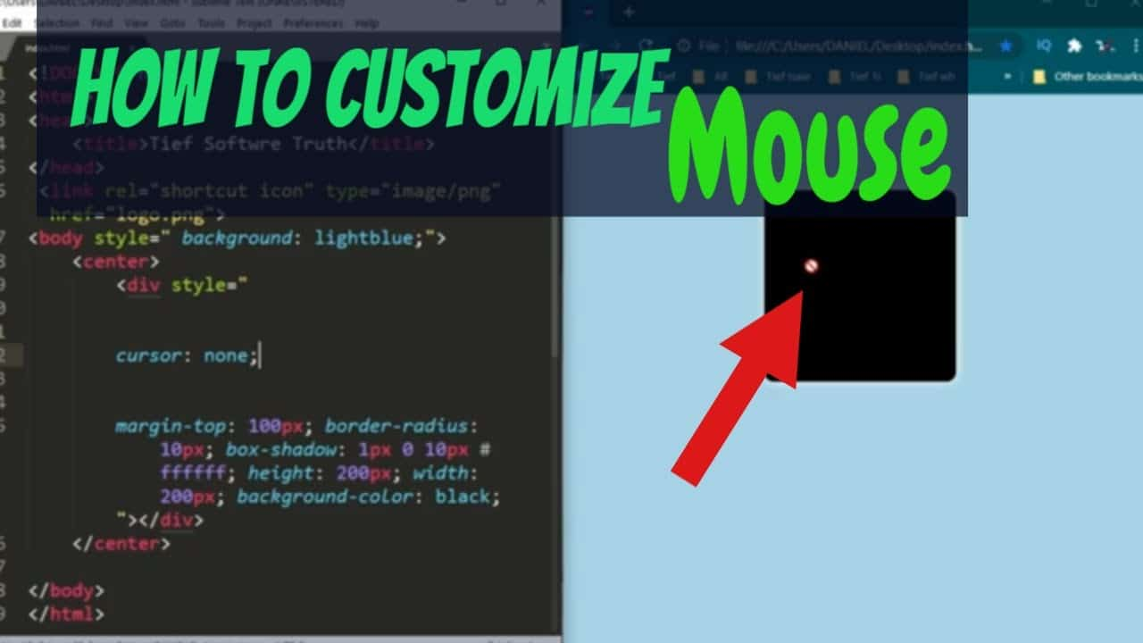 quick tips for Customize muse with CSS   custom cursor for a website