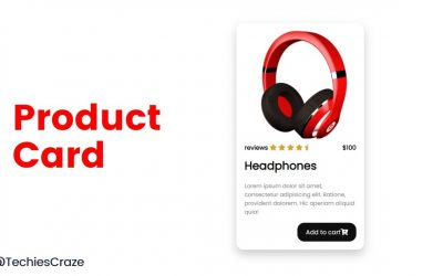 Product card for an ecommerce website using HTML & CSS | TechiesCraze