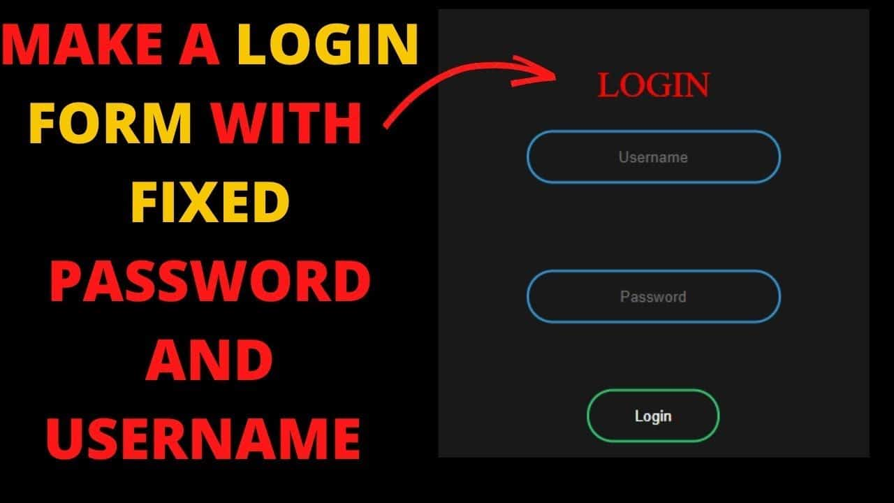 How To Make a Login Form Using HTML and CSS    Make Animated Login Form    HTML & CSS Tutorial