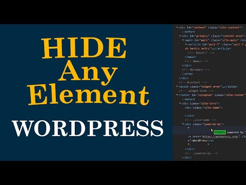 How to Hide Any Element on WordPress Website with CSS