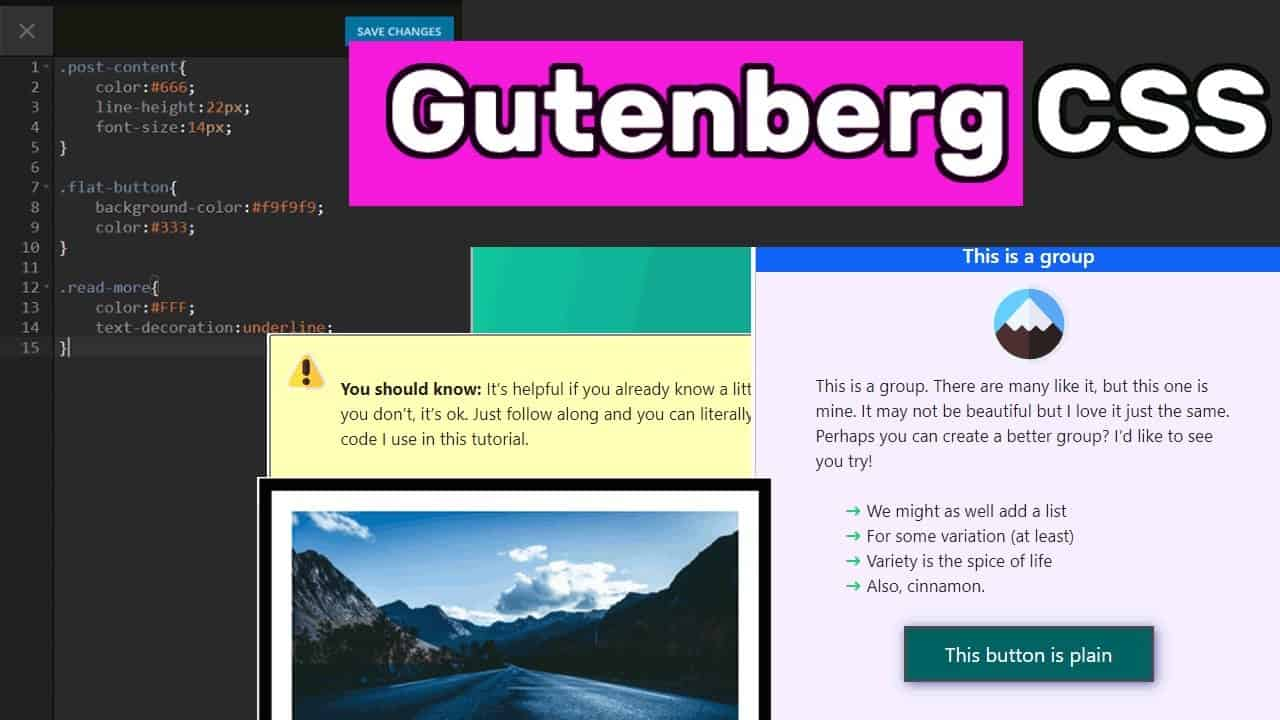 How to add CSS to Gutenberg Blocks (Buttons, Icon Lists, Images & more!)