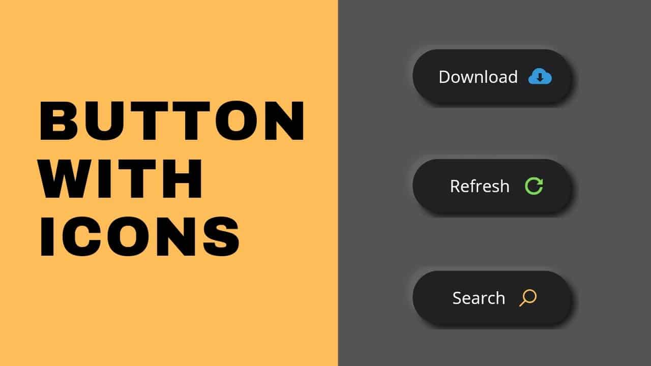 How to Make Button with Icon Using HTML & CSS | CSS Tricks