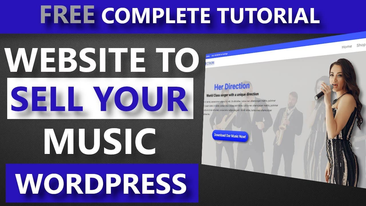 How to make a music website with WordPress - How to build a music website to sell music downloads