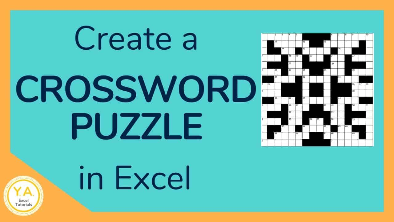 How to Create a Crossword Puzzle in Excel - Tutorial