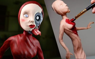 Do It Yourself – Tutorials – Making Up MY OWN Nightmare Character 'The Red Lady' – Polymer Clay Tutorial